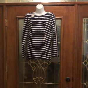 Tommy Hilfiger navy blue red white shirt